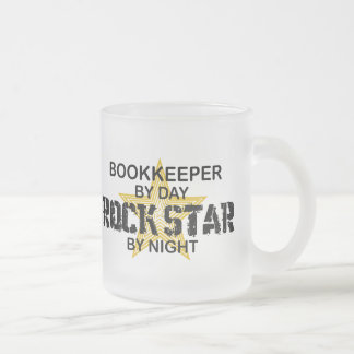 Bookkeeper Rock Star Frosted Glass Coffee Mug