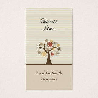 Bookkeeper - Stylish Natural Theme Business Card