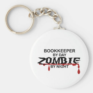 Bookkeeper Zombie Basic Round Button Key Ring