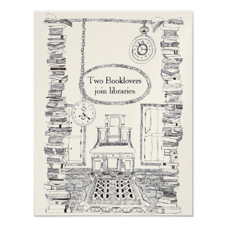 Booklovers Invitation Wedding Card