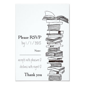 Booklovers Wedding Invitation RSVP Card