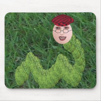 Bookman T. Worm Mouse Pad