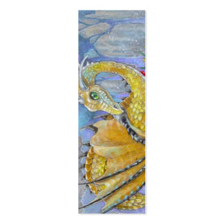 BOOKMARK - Amber Dragon Double-Sided Mini Business Cards (Pack Of 20)
