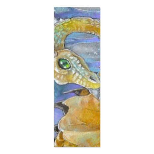 BOOKMARK - Amber Dragon Business Card Templates
