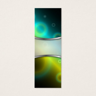 Bookmark Business Card Bubbles Abstract Background