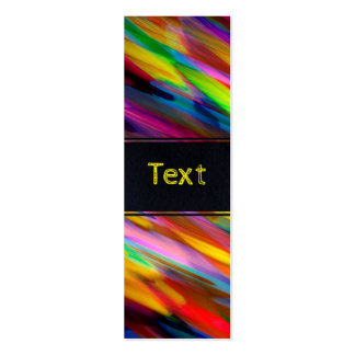 Bookmark Business Card Colorful digital art splash