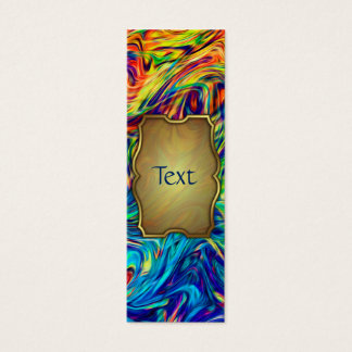Bookmark Business Card Fluid Colors