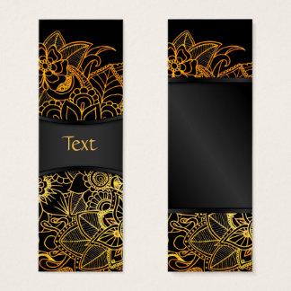 Bookmark Card Floral Doodle Gold G523