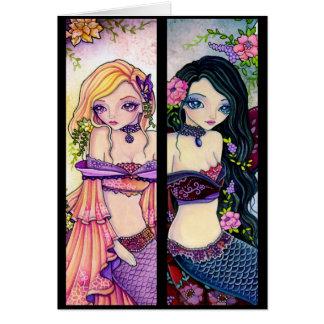 Bookmark card - Kimono Mermaid Girl