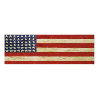 Bookmark Card with Vintage American Flag Business Card Template