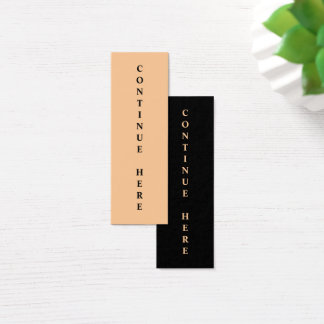 Bookmark Continue Here Mini Business Card