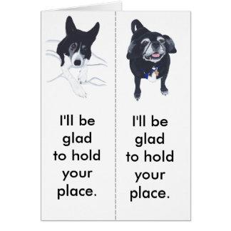 Bookmark Dog Lovers Pug Border Collie Cards