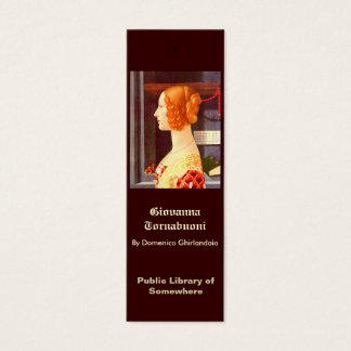 Bookmark - Giovanna Tornabuoni Mini Business Card