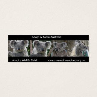 Bookmark Koalas Adopt a Wildlife Child Australia Mini Business Card