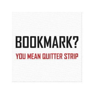 Bookmark Quitter Strip Canvas Print