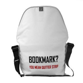 Bookmark Quitter Strip Messenger Bag