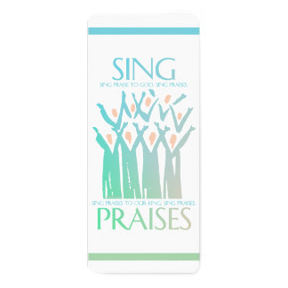 Bookmark Sing Praises To God Choir Card