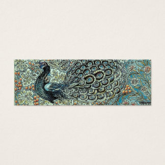 Bookmark, William Morris Peacock Mini Business Card