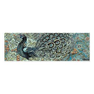 Bookmark, William Morris Peacock Pack Of Skinny Business Cards