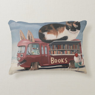 Bookmobile Decorative Cushion