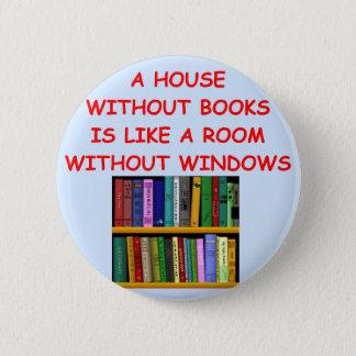 books 6 cm round badge