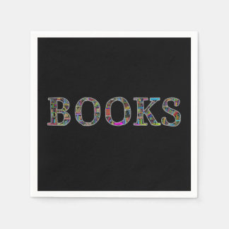 Books: a design for book lovers disposable napkin