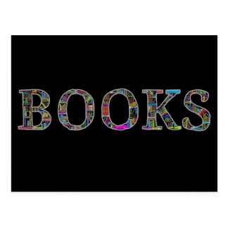 Books: a design for book lovers postcard