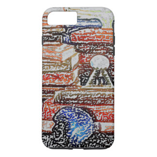 Books and Skull iPhone Case Gifts Learning Reading