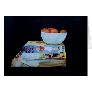 Books & Apricots Greeting Card