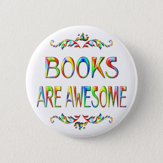 Books are Awesome 6 Cm Round Badge
