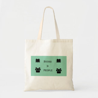 Books are Better Than People Tote Bag