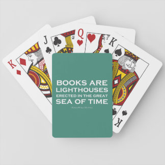 Books Are Lighthouses Playing Cards