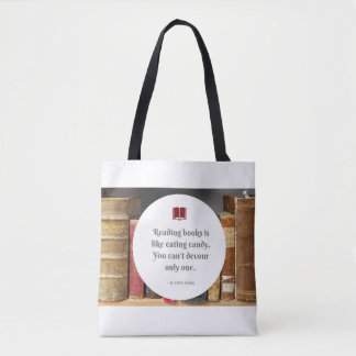 Books are like Candy Tote Bag