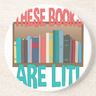 Books Are Lit Drink Coasters