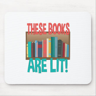 Books Are Lit Mouse Pad