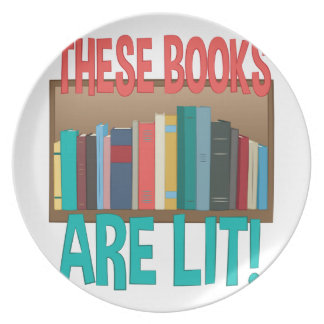 Books Are Lit Plate