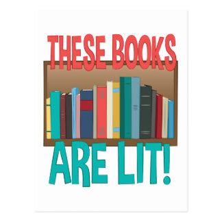 Books Are Lit Postcard