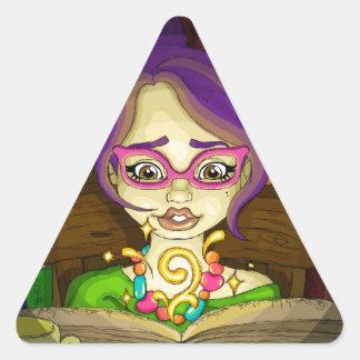 Books are magic triangle sticker