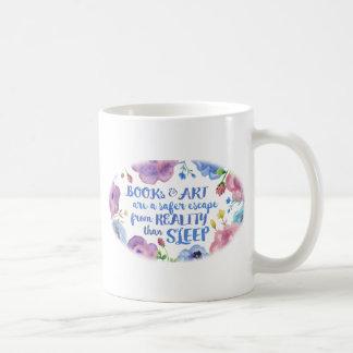 Books, Art & Sleep Coffee Mug