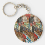 BOOKS Bookworm Library Read Learn Bookshelf GIFTS Basic Round Button Key Ring
