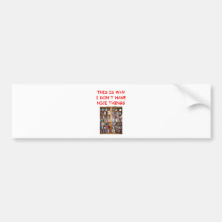 books bumper stickers