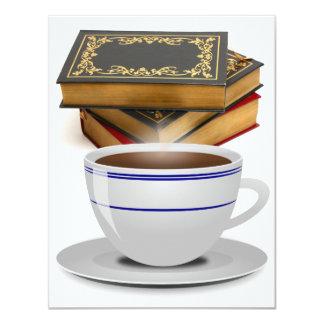 Books & Coffee: Need I Say More? 11 Cm X 14 Cm Invitation Card