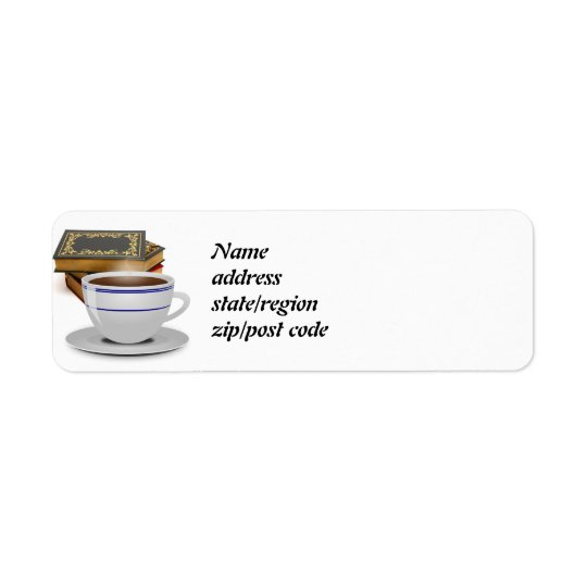 Books & Coffee: Need I Say More? Return Address Label
