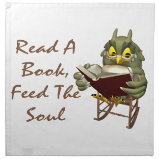 Books Feed The Soul Wise Owl Printed Napkin