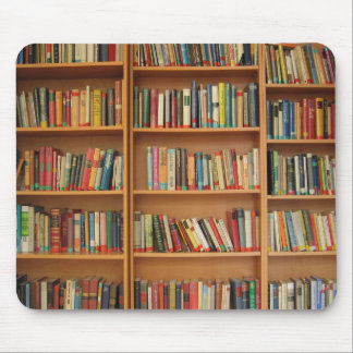 Books in the bookshelf mouse pad
