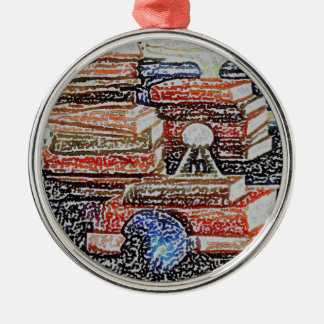 Books Learning Reading Teaching Education Metal Ornament