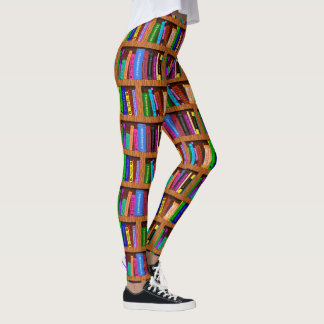 Books Library Bookshelf | Colorful Reading Pattern Leggings