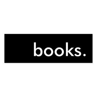 books. loyalty punch card pack of skinny business cards