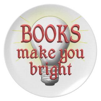Books Make You Bright Plates