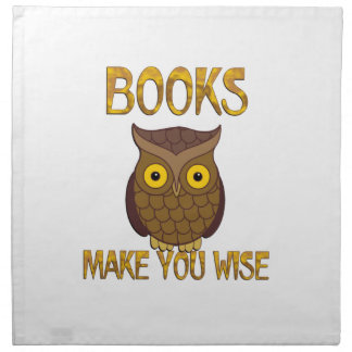 Books Make You Wise Cloth Napkin